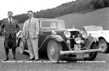 Alvis (BVC 216) John Barber & Jensen (CAC 41) Alan Hess 1938 Scottish Rally
